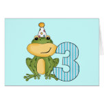 Party Frog 3rd Birthday T-shirts and Gifts Greeting Card