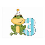 Party Frog 3rd Birthday T-shirts and Gifts Postcard