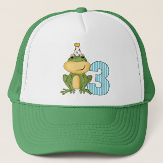 Party Frog 3rd Birthday T-shirts and Gifts Trucker Hat