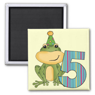 Party Frog 5th  Birthday T-shirts and Gifts Refrigerator Magnets
