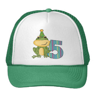 Party Frog 5th  Birthday T-shirts and Gifts Trucker Hat