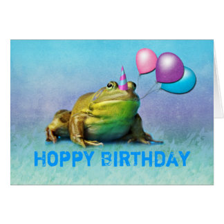 Party Frog Customizable Birthday Card