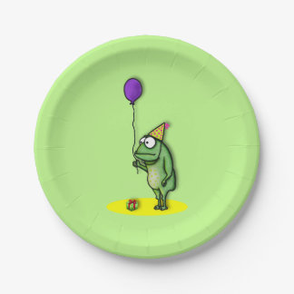 Party Frog Paper Plate