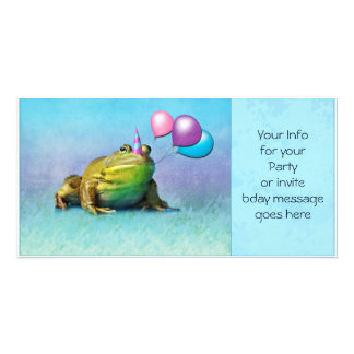 Party Frog Photo Card invite/announcement/birthday