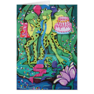 Party Frogs Greeting Card