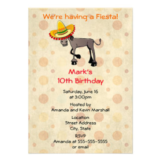 Party! Funny Big Eyed Donkey Card