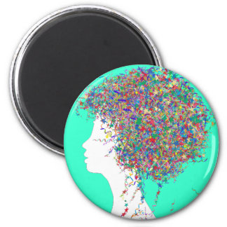 Party girl 2 inch round magnet