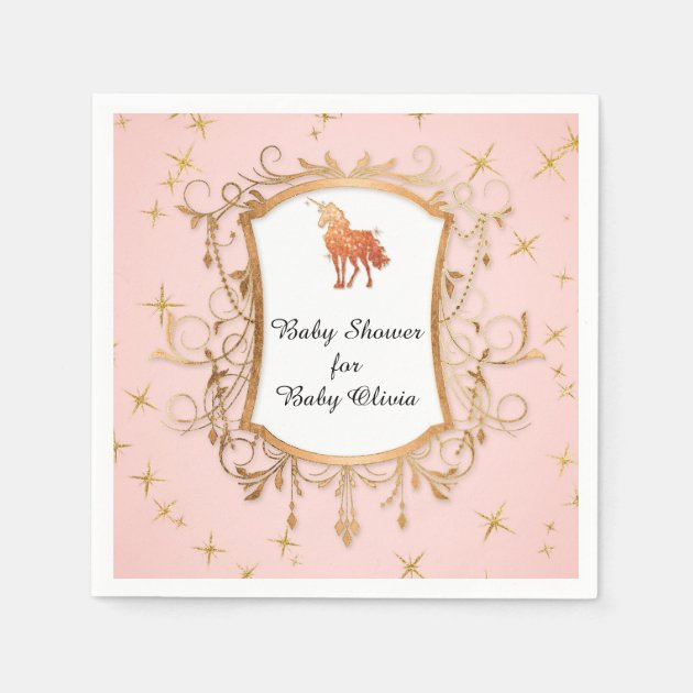 5 of each design Magical Unicorn Party Napkins 14 fold Luncheon napkins Set of 25 - 3 ply