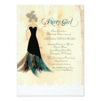 """Party Girl Bachelorette Party invite 5.5"""" X 7.5"""" Invitation Card"""