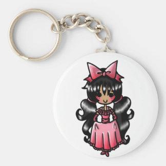 Party Girl (Black Hair) Keychain 3