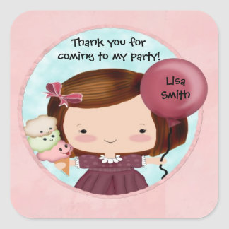 Party Girl Cute Sticker