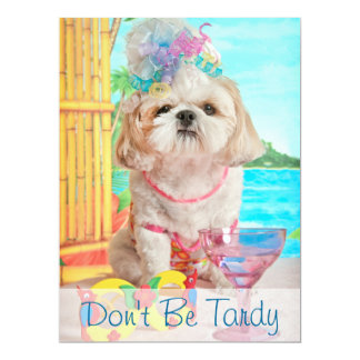 Party Girl - Don't Be Tardy For My Party Card