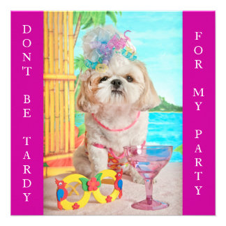 Party Girl- Don't Be Tardy Sweet 16 Invitations