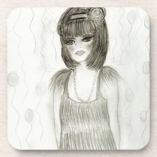 Party Girl Flapper Drink Coaster