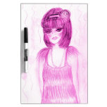 Party Girl Flapper in Hot Pink Dry Erase Boards