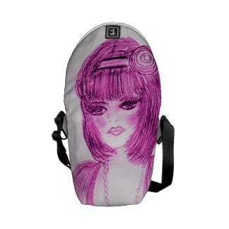 Party Girl Flapper in Hot Pink Messenger Bags
