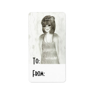 Party Girl Flapper Label