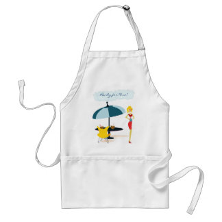 Party Girl in Pink Rainbow Adult Apron