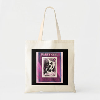 Party Girl In Pink Tote Bag