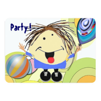 Party girl 5x7 paper invitation card