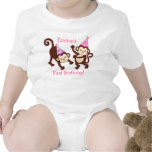 Party Girl Monkey Baby Kids Creeper T-Shirt