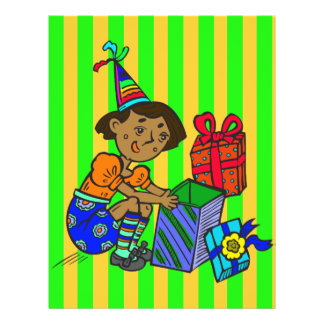 Party Girl Opening Gifts Full Color Flyer