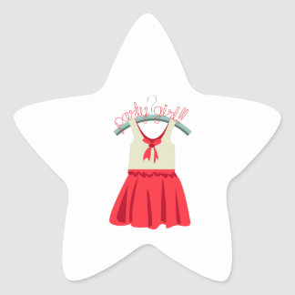 Party Girl!!! Star Sticker