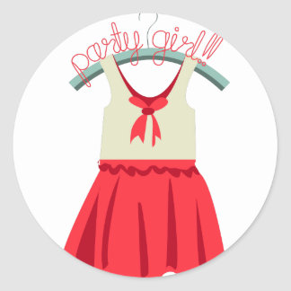 Party Girl!!! Round Stickers