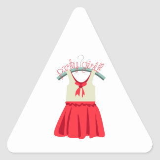 Party Girl!!! Triangle Sticker
