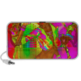 Party girls, disco dancing the night away portable speaker
