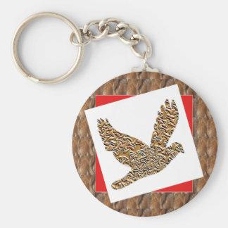 Party GIVEAWAY RETURN GIFTS: GoodLUCK Angel Bird Basic Round Button Keychain