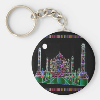 Party GIVEAWAY RETURN GIFTS: Taj Mahal Agra India Basic Round Button Keychain