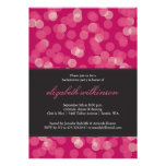 Party Glow Bachelorette Party Invitation in Pink Announcement