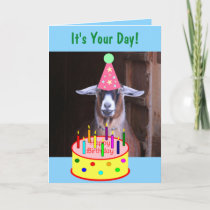 Party Goat Silly Birthday Card