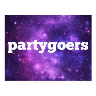 Party goers postcard