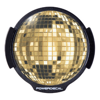 Party Gold Disco Ball LED Window Decal