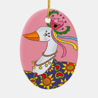Party Goose Ukrainian Folk Art Christmas Tree Ornaments