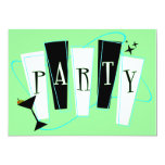"""Party Green 5"""" X 7"""" Invitation Card"""
