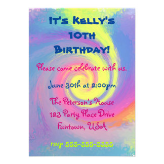 Party!  Groovy Abstract Spiral Swirl Card