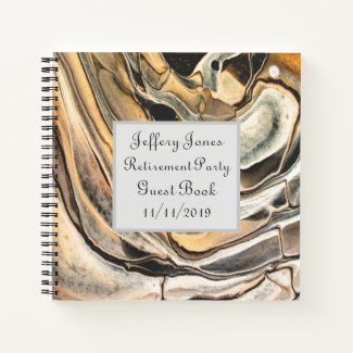 Party Guest Book Abstract Art Design