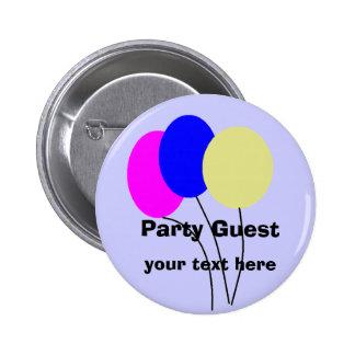Party Guest, button