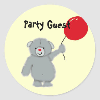 Party Guest Classic Round Sticker