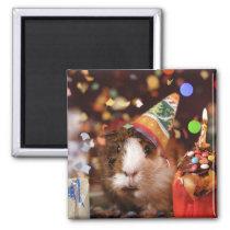 Party Guinea Pig Magnet