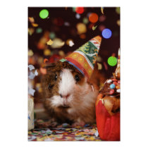 Party Guinea Pig Poster