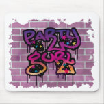 party gurl (girl) graffiti design mouse pads