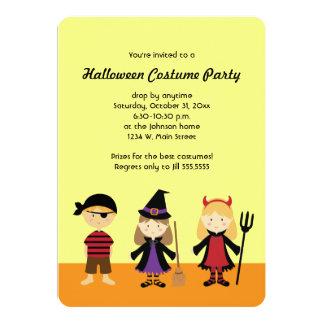 Party Halloween Kids Costume Invitations