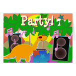 Party Happy Birthday Dinosaur Card