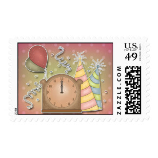 Party - Happy New Year Stamp