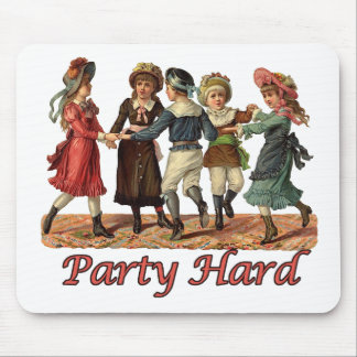 Party Hard Dancing Victorians Birthday Mouse Pad