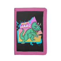 Party Hard dinosaur II -Triceratops with glowstick Trifold Wallet